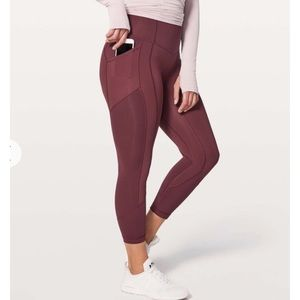 """Lululemon All the Right Places ATRP 23"""" Red 8"""